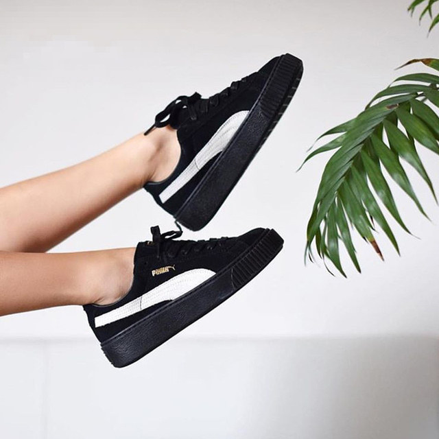 03cab0fb6f92 New Arrival PUMA Fenty by Rihanna Cleated Creeper Suede Sneakers Women s  Badminton shoes Size 35.5-39