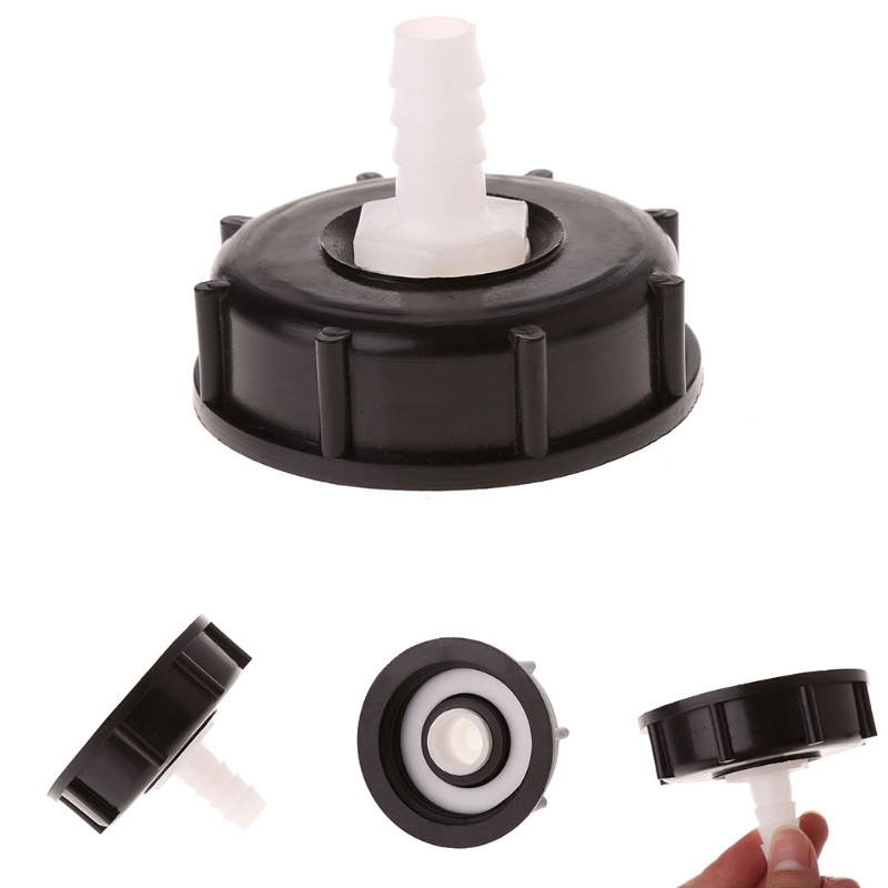 IBC Tote Tank Food Grade Drain Adapter 2.36 Coarse Thread To 12mm Hose Faucet ValveIBC Tote Tank Food Grade Drain Adapter 2.36 Coarse Thread To 12mm Hose Faucet Valve