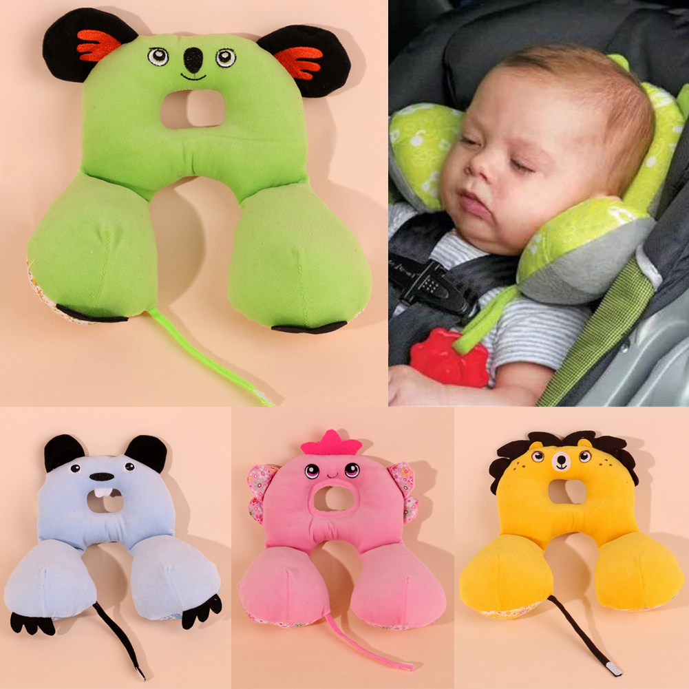 2016 hot baby neck pillow car seat cushion high quality animal shape baby child kids pillow headrest travel baby toys pillows
