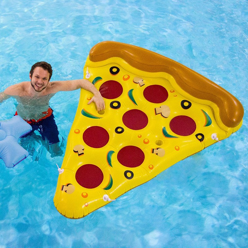 Inflatable Yellow Pizza Pool Toys Float  Inflatable Swimming Rings for Pool Party Favor Summer Holiday Water Air Mattress toys (7)