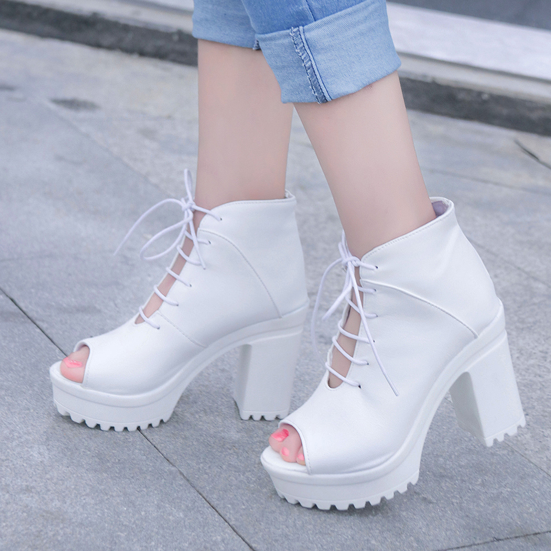 2017 Summer shoes woman Platform Sandals Women Soft Leather Casual Open Toe Gladiator wedges Women boots zapatos mujer plus size 34 44 summer shoes woman platform sandals women rhinestone casual open toe gladiator wedges women zapatos mujer shoes