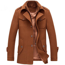 New Winter Wool Jackets Coats Slim Fit Mens Casual Warm Outerwear Jacket and Coat Man Plus Size M-4XL Tracksuit