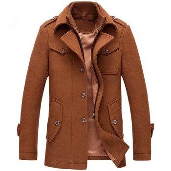 Nuevo invierno chaquetas de lana abrigos Delgado chaquetas Casual para  hombre abrigo chaqueta y abrigo de hombre abrigo Plus tamaño M-4XL chándal e7577d18e0aa
