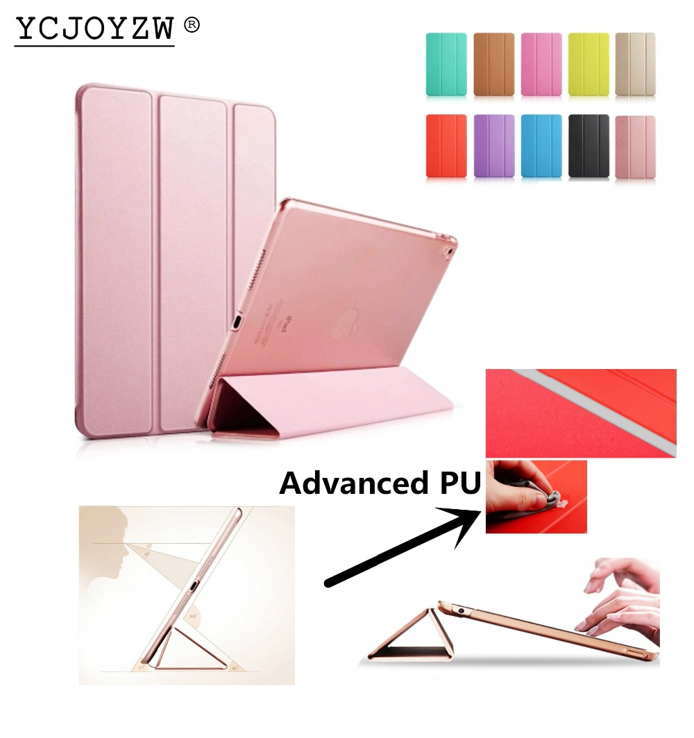 YCJOYZW-Case Smart for 2017 2018 New ipad 9.7 inch:A1822`A1823`A1893`A1954,PU Leather Cover+PC case Auto Sleep protective shell lichee pattern protective pu leather case stand w auto sleep cover for google nexus 7 ii white