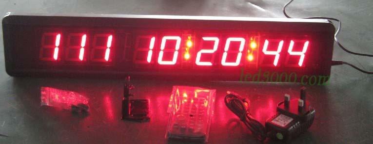velký sportovní 1,8 palcový den, hodiny, minuty a sekundy vedly odpočítávací hodiny (HIT9-1,8R)