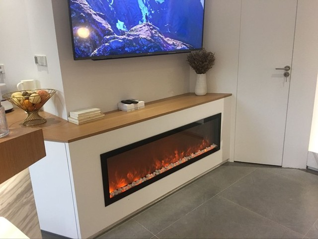 Free Shipping To Albania 1500 400 200mm Built In Electric Fireplace No Heat