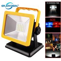 Flood Light IP65 Floodlight Spotlights Rechargeable Lamp Portable 15W 24 LED Outdoor Lamp Waterproof LED Working Emergency light
