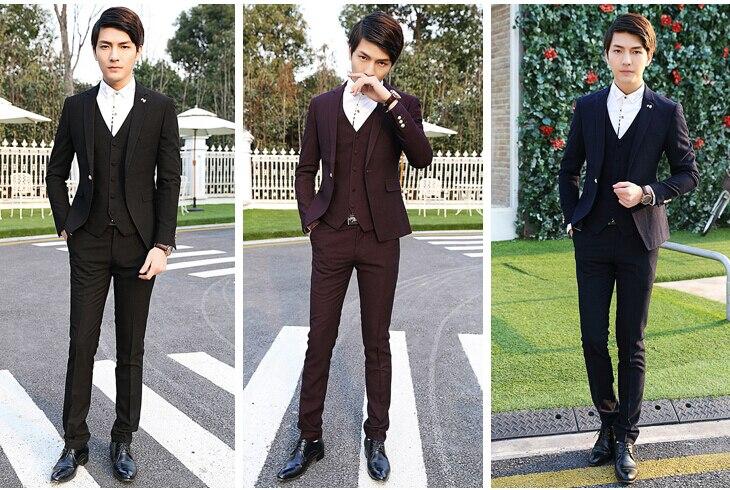 Men\'s business career suits three piece suit the groom\'s best man ...