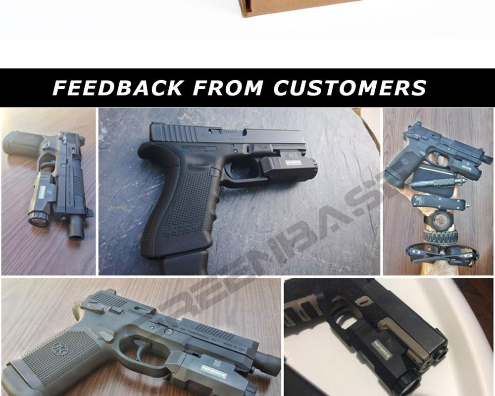 Greenbase apl pistola de luz arma luz
