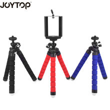 JOYTOP  Lightweight Sponge Octopus Tripod With Phone Holder for iPhone X Smartphone For Canon Nikon Gopro Hero DSLR Camera
