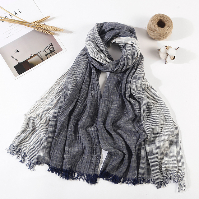 Men's Plaid, Striped With Tassel, Scarves