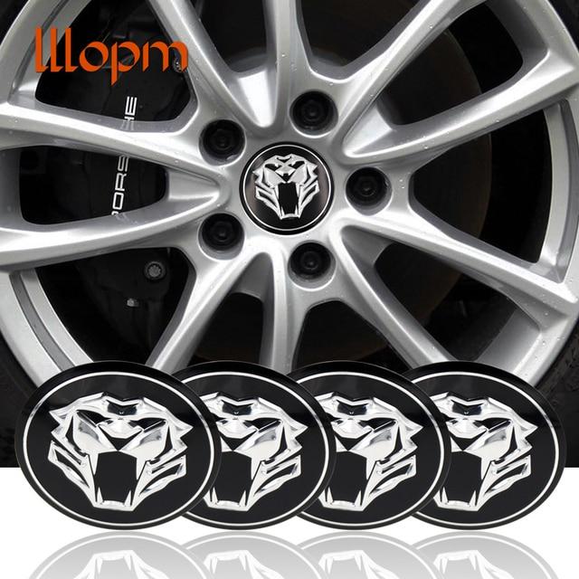 Tiger Head Car Steering Tire Wheel Center Car Sticker Hub Cap Emblem
