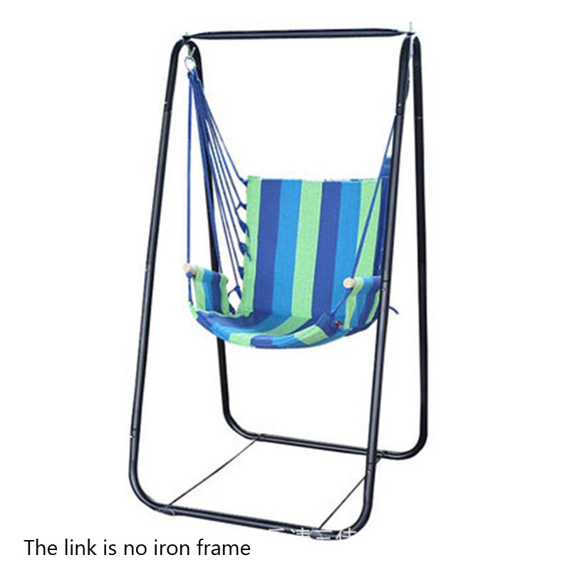 Fashion Dormitory Boutique Beach Hammock Adult Children Park Swing 7 Colors Canvas Hanging Chair + Comfortable Sponge Best Gift