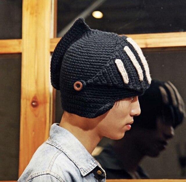 2016 новинка новый роман рыцарь шлем шапочки круто ручной лыжный теплый зимний шляпы мужчины женщин подарок лыжные маски шапочки 1526263124