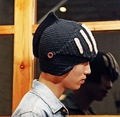 2016 Novelty New Roman Knight Helmet Caps Cool Handmade Knit Ski Warm Winter Hats Men Women's Gift Ski Mask Beanies 1526263124