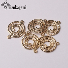 Charms Pendants Finding-Accessories Spiral-Connector Jewelry Making Diy Bracelet 18mm