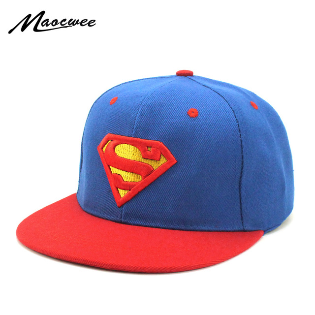 0c96e581ab655 Children Superman Cap Snapback Hats Batman Baseball Caps Boy Girl Fashion  Cartoon Hip Hop Kid s Superman