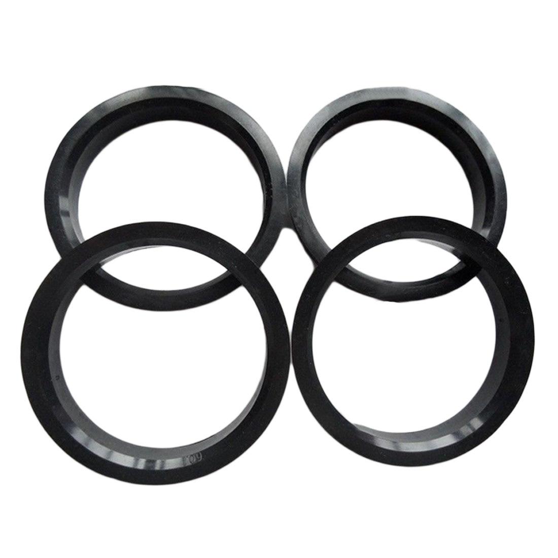 Dewtreetali Новое поступление 4 шт. концентратор Centric кольца колеса автомобиля отверстие центр воротник 66.6-57.1 мм для Audi VW Benz черный Пластик