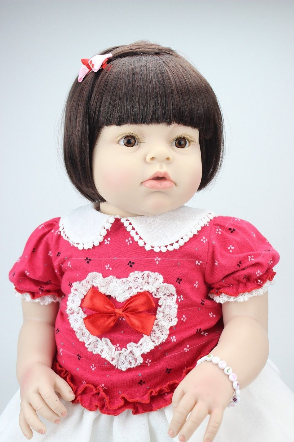 lifelike reborn toddler doll soft silicone vinyl real gentle touch 28inches short wig dolllifelike reborn toddler doll soft silicone vinyl real gentle touch 28inches short wig doll