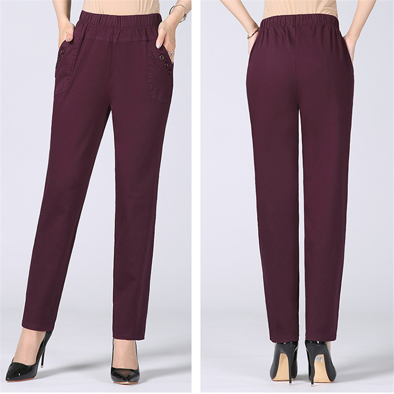 HTB1AaKNkDtYBeNjy1Xdq6xXyVXaH - Plus Size 5XL High Waist Stretch Long Pants Women Cotton Straight Trousers Women Pantalon Femme Work Office Ladies Pants C4315
