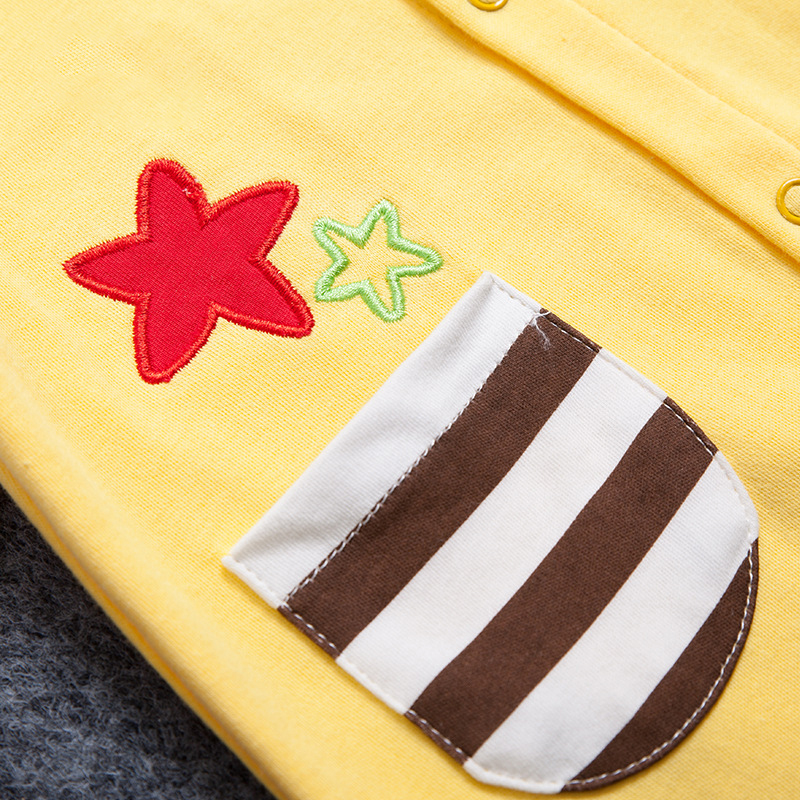 2017 New Baby Boys Gils Rompers With Carton Pattern Long Sleeve Infant Jumpsuit Newborn Baby Clothes Soft Cotton Infant Costume