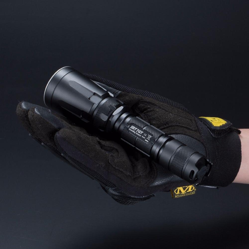 Sale NITECORE SRT7GT 1000 Lumens CREE XP L HI V3 4 colors UV LED Flashlight Smart