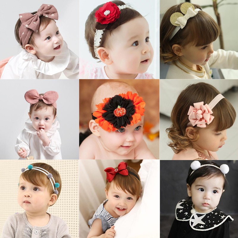 Cute Princess Gift Girls Kids Turban Headband Hair Head Band Bow Wrap Accessories For Girls Headband Headwrap   Headwear   Headdress
