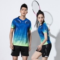 New Badminton clothes Men , sports badminton sets , Tennis clothes , Badminton shirt Tennis wear dry cool shirt + shorts 2601