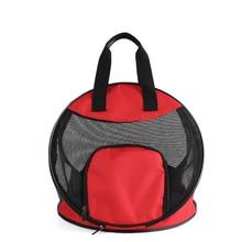 Pet Handbag Dog Out Portable 40x40x35cm Round 40cm Mesh Shoulder Cat Bag Backpack Breathable Folding Blue Red