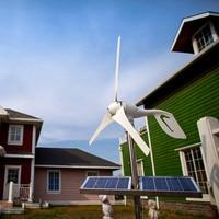 Hybride Solar Wind Power Generator; 12/24 V Optie, Gecombineerd Met Wind/Zonne-hybride Controller (Lcd-scherm)
