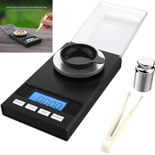 0.001x50g Digital Pocket LCD Jewelry Powder Weigh Scales  with Tweezers+Weighing Pans Hot Sale