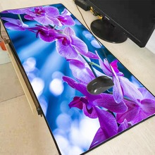 лучшая цена Mairuige Purple Flowers Large Gaming Mouse Pad 300*800*2mm Speed Locking Edge Mouse Keyboards Mat Mousepad for CSGO Dota 2 LOL