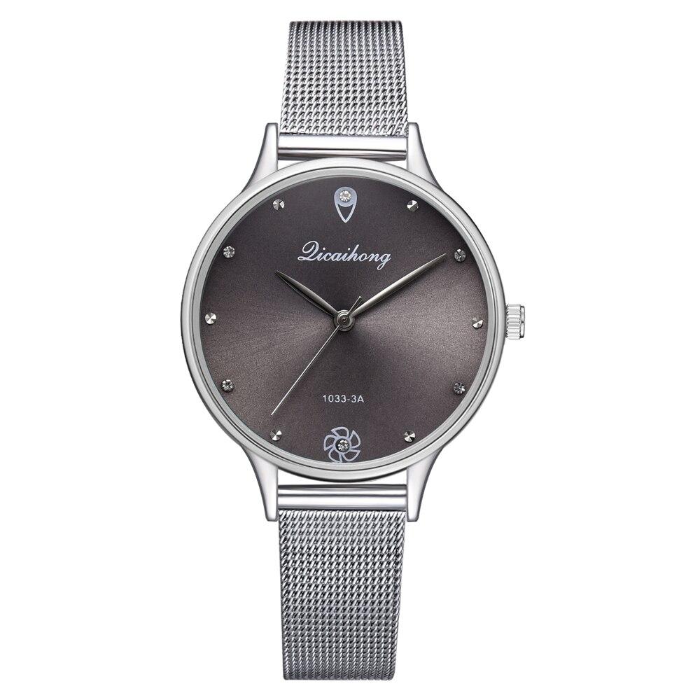 Роскошные женские часы с зеленым циферблатом, кварцевые часы, модные часы с металлическим серебряным ремешком, модные креативные часы для женщин, подарок для женщин