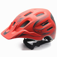 2016 Bicycle XC Helmet Quality Ultralight 18 Vents Sports Cycling Helmet With Visor Mountain Road MTB
