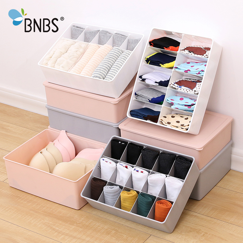 Multi-size Underwear Organizer Storage Can Adjust The Partition Drawer Closet <font><b>Organizers</b></font> Boxes For Bras Briefs Socks Ties Scarfs image