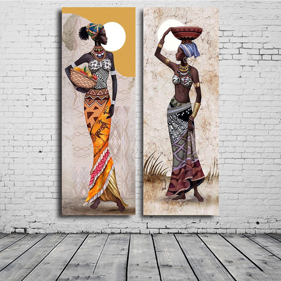Needlework Diamond Painting African woman Diamond Embroidery full square Drill Rhinestone Mosaic Picture Home Decoration
