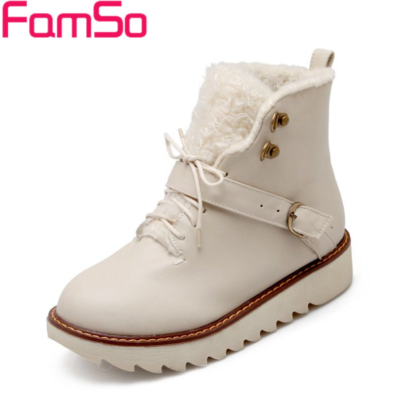 Plus Size34 43 2016 new Sexy font b Women b font Boots Buckle Waterproof Ankle Boots