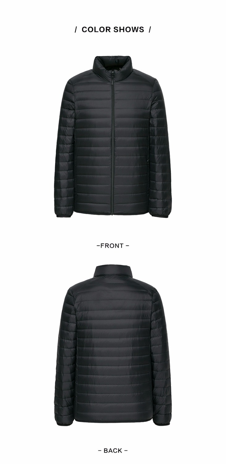 Down Jacket Winter Portability Warm 90% -Hooded Man Coat