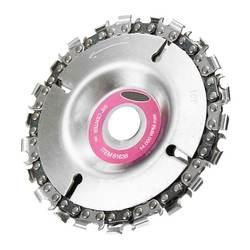 4 дюйма шлифовальный диск и цепи 22 зуба изящно отделанный цепи набор для 100/115 угловая шлифовальная машина резьба по дереву дисковая цепь Z