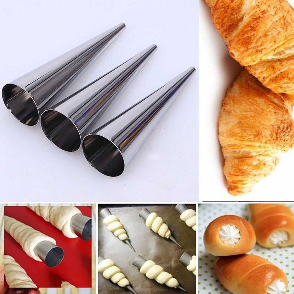 Stainless Steel Pastry Cream Horn Cone Shape Bread Cake Mould Baking Hotsale
