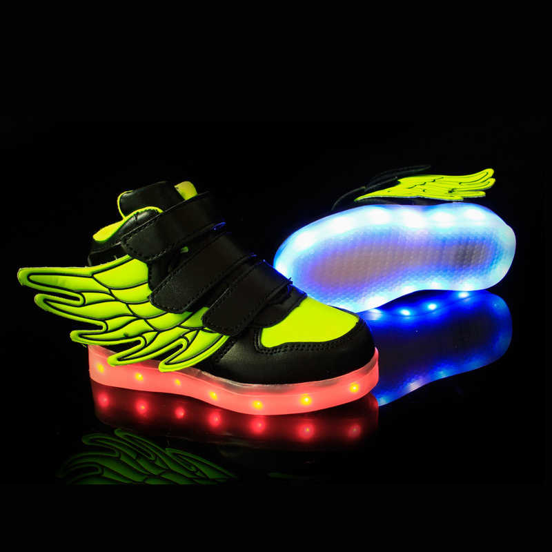 8eccbfa57e625 ... Size 25-37   USB Charging Casual Basket Led Children Shoes With Light Up  ...