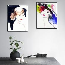 Moderne mode lady lip posters en prints muur canvas schilderij foto meisje kamer decoratie foto muur decor geen frame