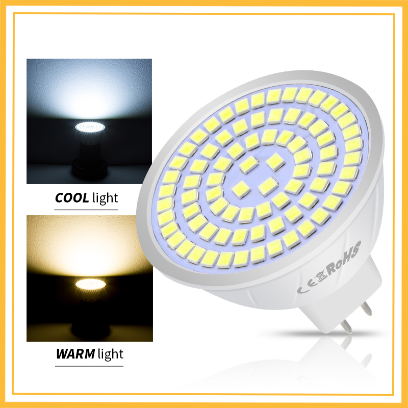LED GU10 Spotlight Bulb Corn lamp MR16 Spot light E27 48/60/80leds 2835 B22 Bombillas Led E14 220V Ampoule led maison GU5.3 240V