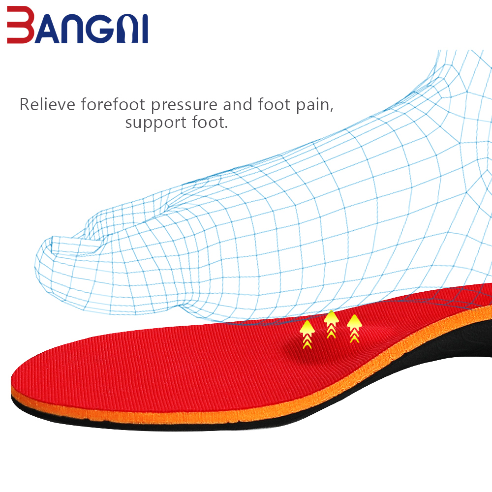 Image 2 - 3ANGNI Orthotic Shoe Insoles Arch Support Insert Orthopedic Moderate Flat Feet Heel Pain Plantar Fasciitis Men Woman Shoes SoleInsoles   -