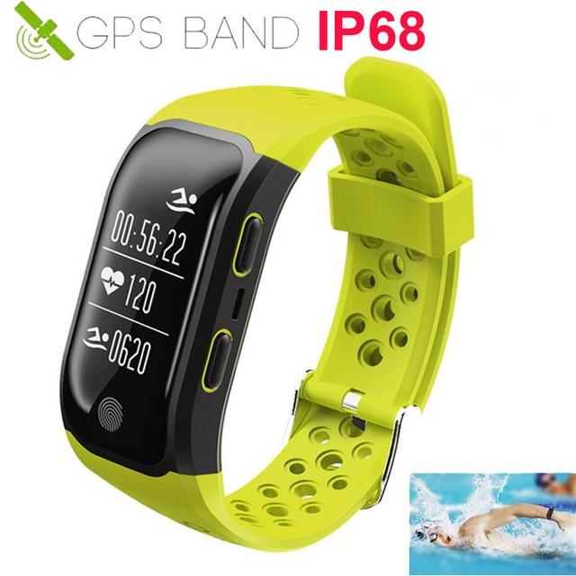 9381581c50f IP68 GPS Relógio Inteligente Pulseira De Fitness Heart Rate Monitor  Cardiaco Atividade Rastreador GPS Corrida