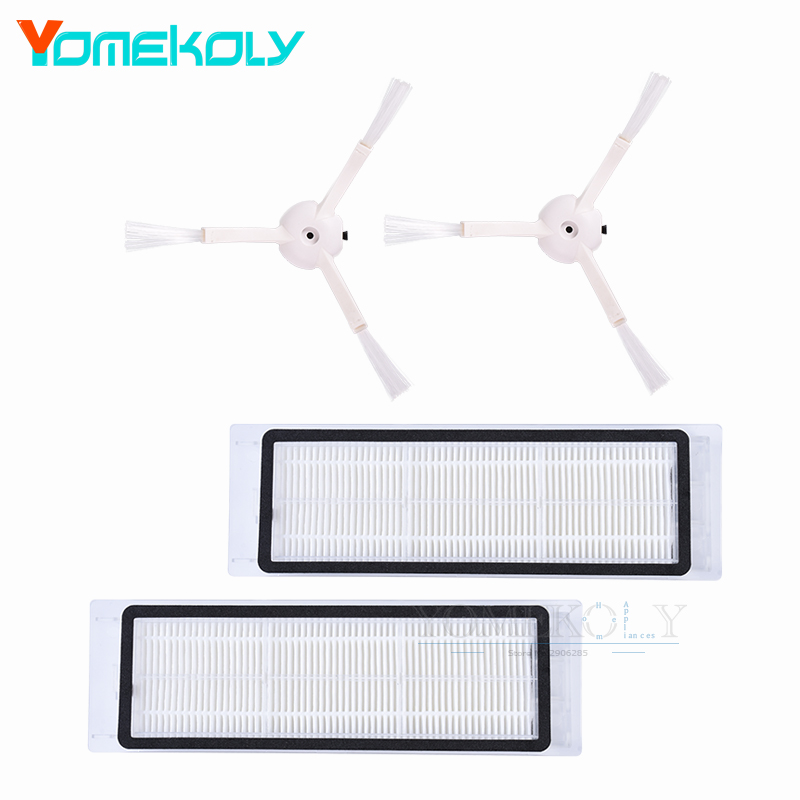 HEPA Filter Side Brush Main Brush Mop Cloths Kits for Xiaomi Mi Robot Roborock Vacuum Cleaner Spare Replacement Parts seebest robot vacuum cleaner spare parts main brush rubber brush side brush mops filter for c565 c571 c561