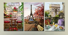 Diamond Painting Scenery Cross Stitch Triumphal Arch 5D Mosaic Sets Embroidery Handicraft Paris pagoda Home Decoration