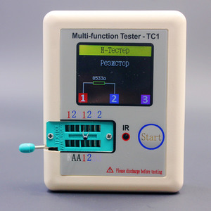 Image 3 - รัสเซียMulti Function TC1เครื่องทดสอบทรานซิสเตอร์TFT Diode Triode Capacitance Meter LCR ESR NPN PNP MOSFET IR Tester