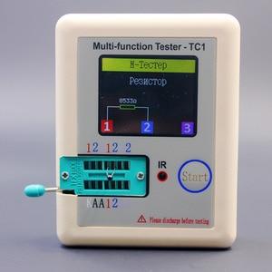 Image 3 - Rosyjski wielofunkcyjny TC1 Tester próbnik elektroniczny trioda dioda TFT miernik pojemności wskaźnika pokrycia wypływów netto ESR NPN PNP MOSFET IR Tester