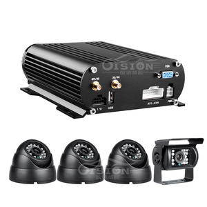 Real Time Surveillance Hdd 3G GPS 4Channel Mobile Dvr With 500GB Hard Disk. Remote Monitoring 1080P AHD Video Car Mdvr KIT